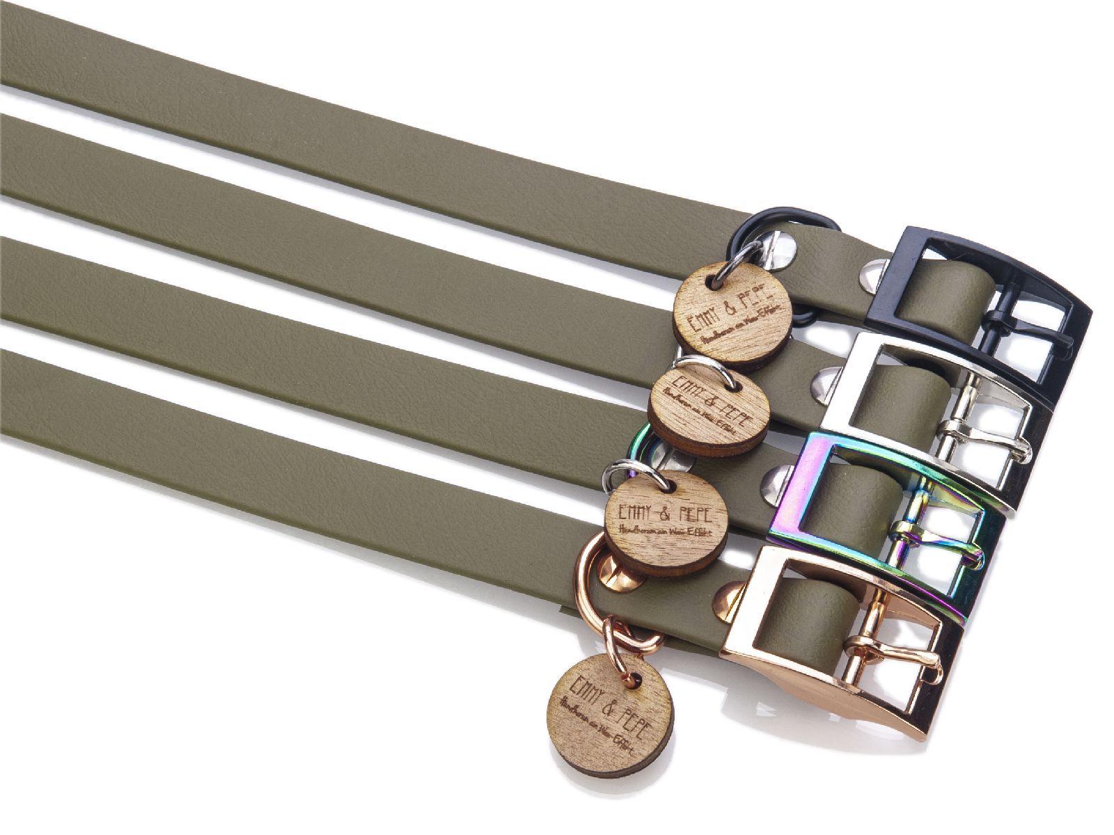Biothane Halsband Olive